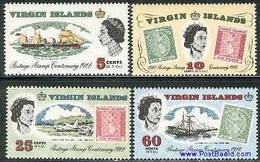 BRITISH VIRGIN ISLANDS, 1966, Stamp Centenary 4v MNH - Iles Vièrges Britanniques