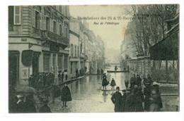 Chalon S Saône - Inondations Des 24 & 25 Janvier 1910 - Rue De L'Obélisque (angle Rue De Thiard, Crédit Lyonnais) - Chalon Sur Saone