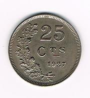 °°° LUXEMBOURG 25 CENTIMES 1927 - Luxembourg