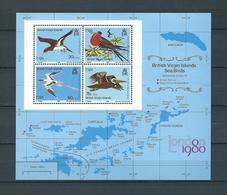 BRITISH VIRGIN ISLANDS, 1980, London'80 Philatelic Exhibition (BIRDS) S/s MNH - British Virgin Islands