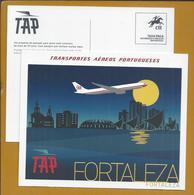 Postal Stationery Taxa Paga Da TAP. Postal Stationery Fee Paid TAP. 70 Years Of TAP To Fly To Fortaleza, Brazil. Boeing. - Interi Postali