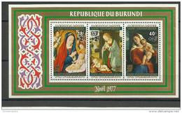 Burundi - 1977 Christmas S/sheet MH *  Sc 533a - Burundi