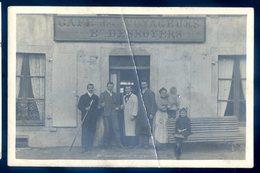 Cpa Carte Photo Café Des Voyageurs Eugène Desnoyers -- Collection Neveu Pré En Pail -- Alençon   ACH14 - Pre En Pail