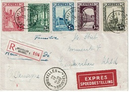 T.P. 292C/292G S/L. Rec. EXPRES De BRUXELLES Du 19-IV-1932 à EUSKIRCHEN (30-IV-32) - Belgique