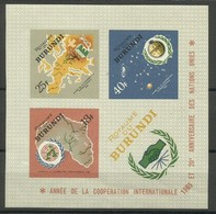 Burundi - 1965 ICY Imperf S/sheet MLH *  Sc 140a - Burundi