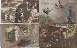 ALSACE - Lot De 4 CPA Patriotiques - Guerre 1914-18 - PATRIOTISME - WW1 - A Voir ! - Alsace