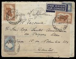 ARGENTINA. 1937. Orange, NJ / USA - Buenos Aires - Brazil. Air Fkd Combination Mail Fkd Usage. Scarce Comercial Genuine - Argentina