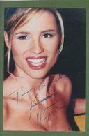 MICHELLE HUNZIKER  Original Signed Glossy Photo AUTOGRAPHE / AUTOGRAMM  10/15 Cm - Autographes