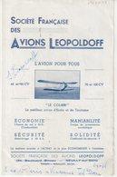 "AVIATION : LEOPOLDOFF . SUR FACICULE "" AVION LEOPOLDOFF "" - Autographes"