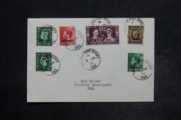 MAROC - Affranchissement Plaisant De Fez Pour Fez En 1938 , Oblitération Bureau Anglais - L 26462 - Oficinas En  Marruecos / Tanger : (...-1958