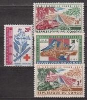 Croix Rouge - CONGO - Aide Par La Communauté Européenne - 1963 - République Du Congo (1960-64)