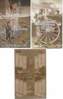 """"""" BONNE ANNEE """" - Lot De 3 CPA - Guerre 1914 -18 - PATRIOTISME - Correspondance - WW1 - Nouvel An"""