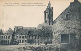 CPA - Belgique - Loo - La Place Après Le Bombardement - Lo-Reninge