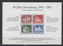Vignette 40 Jahre Vertreibung 1945-1985 Erinnerungen An Die Heimat - Briefmarken