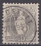 SUISSE 1891:   Le ZNr 69C Oblitération Du 27.IX.95 Forte Cote - 1882-1906 Wappen, Stehende Helvetia & UPU