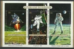 Burundi - 1969 Space Exploration S/sheet  MH *   Sc 105a - Burundi