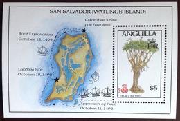 Anguilla 1986 Columbus Discovery Of America Dragon Tree Minisheet MNH - Anguilla (1968-...)