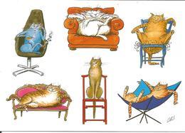 CHAT CPM Humoristique Illustrateur Henri Saunier éditions Cartes D'Art - Chats