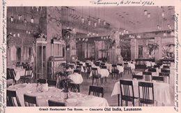 Lausanne, Grand Restaurant Tea Room, Concerts, Old India (31.5.1923) - VD Vaud