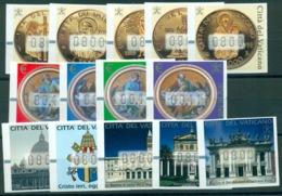 VATICANO 2000-2001-2002  FRANCOBOLLI AUTOMATICI MNH** LUSSO 3 SERIE COMPLETE - Vatican