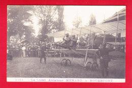 Aviation-199P222  Carte Photo, Le Lieutenant Aviateur MENARD à Rochefort, Belle Animation, Cpa BE - ....-1914: Précurseurs
