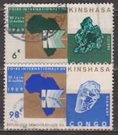 Foire Internationale De Kinshasa - CONGO - Cuivre - Diamant - N° 685-687 - 1969 - République Du Congo (1960-64)