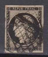 FRANCE 1849:   Le Y&T 3 Oblitéré Grille - 1849-1850 Ceres