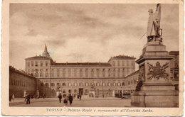 Torino - Palazzo Reale E Monumento A Esercito Sardo - Fp - Palazzo Reale