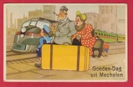 Mechelen - Goeden-Dag Uit ... Wenskaart - Leporello - 1954 (verso Zien ) - Malines
