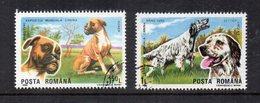 """ROMANIA - 1990 - Lotto Di 2 Francobolli Tematica """" Animali - Cani - Usati - (FDC14786) - 1948-.... Républiques"""