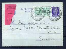 Regno ST POST. Biglietto Postale Espresso - 1900-44 Vittorio Emanuele III