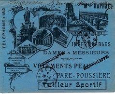 Lettre Mr Raphael Semeuse Gare De Nimes Gard Illustration Retour - 1877-1920: Semi-Moderne