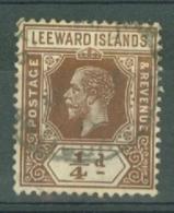Leeward Is.: 1912/22   KGV   SG46    ¼d    Brown   Used - Leeward  Islands