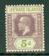 Leeward Is.: 1921/32   KGV   SG71    5d     MH - Leeward  Islands