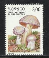 MONACO , 3 Frs , Champignon Du Parc Du Mercantour , Cortinarius Traganus , 1988 , N° YT 1632 , NEUF ** - Monaco