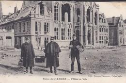 MILITARIA---BELGIQUE--DIXMUDE--ruines De Dixmude--l'hôtel De Ville--voir 2 Scans - Guerre 1914-18
