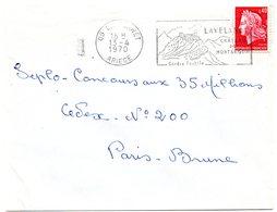 CHATEAU = 09 LAVELANET 1970 = FLAMME Codée à DROITE = SECAP  Illustrée ' MONTSEGUR Centre Textile ' - Mechanical Postmarks (Advertisement)