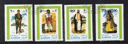 AJMAN - 1968 - Lotto 4 Francobolli Tematica Costumi - Usati - (FDC14790) - Ajman