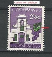 * VARIÉTÉS 1964 N° 285 RÉPUBLIQUE VAN SUID AFRIKA  2 1/2 C GROOT CONSTANTIA OBLITÉRÉ - Oblitérés
