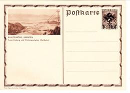 """III. Reich, Bildpostkarte Ostmark, 6 Rpf. """" Nicht Zur Ausgabe Gelangt !"""" KANZELHÖHE, KÄRNTEN - Ganzsachen"""