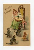 Style Helena MAGUIRE  Gaufré / Embossed . Chat, Chats Cat, Cats Katze - Illustrators & Photographers