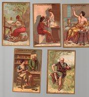 Paris : Lot De 5 Chromos A LA VILLE DE SAINT DENIS Arts Métiers Loisirs (PPP17936) - Autres