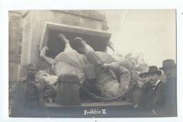 METZ : Belle Carte Photo De La Statue De Frédéric III Renversée - Cliché Keidel - WW1 - Metz