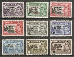 TRISTAN DA CUNHA 1952 SET TO 1s SG 1/9 MOUNTED MINT Cat £30+ - Tristan Da Cunha