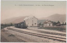 66 - CAUDIES - La Gare - Le Train De PERPIGNAN - France