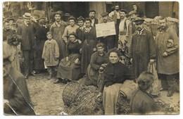 75001-PARIS-CARTE PHOTO-Marchands Aux Halles Centrales...1907  (plis Marqués) - District 01