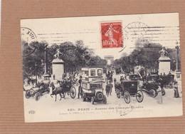 CPA Paris,avenue Des Champs Elysées, Bus à étage, Calèche, Animée - Otros