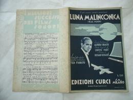 SPARTITO MUSICALE LUNA MALINCONICA ORCHESTRA TED FIORITO BRACCHI HART RODGERS - Altri