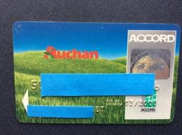 CARTE DE CRÉDIT AUCHAN  Accord - Cartes De Crédit (expiration Min. 10 Ans)
