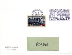 CHATEAU = 11 CARCASSONNE 1979 = FLAMME CONCORDANTE N° 490 / Codée à DROITE = SECAP  Illustrée ' En Terre D' AUDE ' - Postmark Collection (Covers)